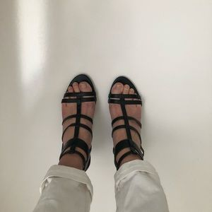 NINE WEST caged heel Sz 8